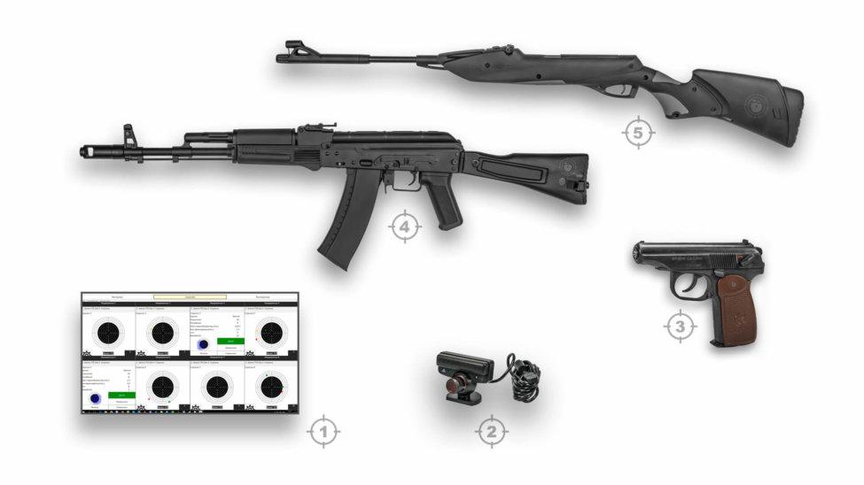 Лазерный тир электронный ⋆ТИР ЭЛЕКТРОН⋆ комплект 7